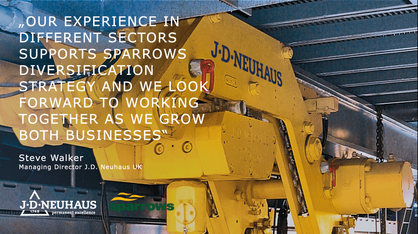 Partnership with Sparrows Group
