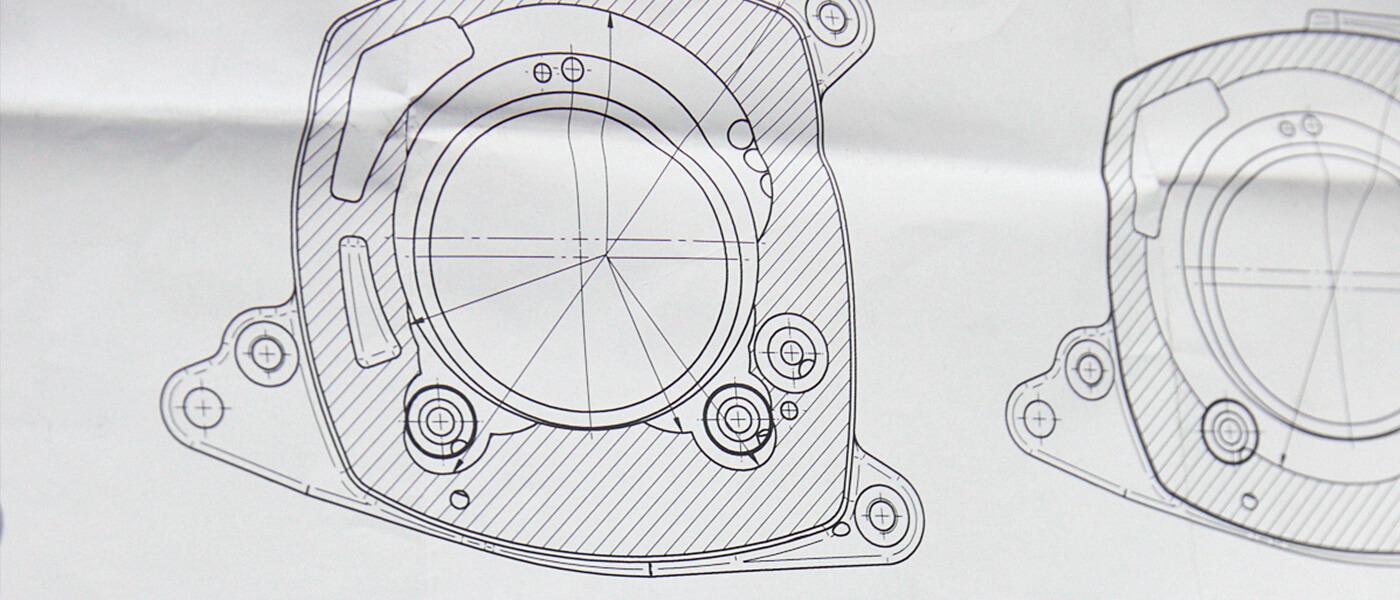 Technical drawing of a JDN hoist